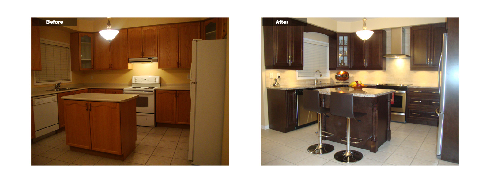 Reface Kitchen Cabinets Before And After Reface Kitchen Cabinets Lowes Galley Kitchen